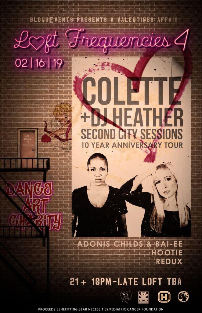 Loft Frequencies 4 - Feat. Colette & DJ Heather - Flyer back