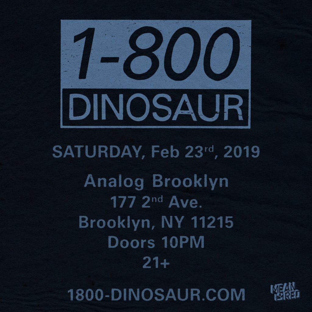 1-800 Dinosaur - Flyer front