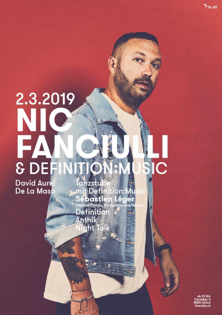 Nic Fanciulli & Definiton:Music - Flyer front