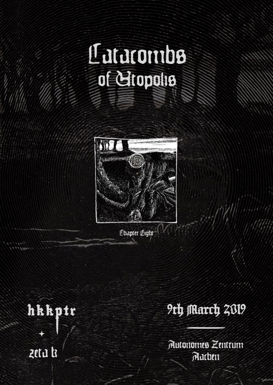 Catacombs of Utopolis with 𝕳𝕶𝕶𝕻𝕿𝕽 (X-IMG) - Flyer back