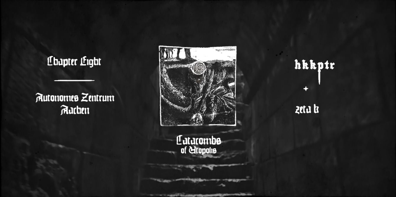 Catacombs of Utopolis with 𝕳𝕶𝕶𝕻𝕿𝕽 (X-IMG) - Flyer front