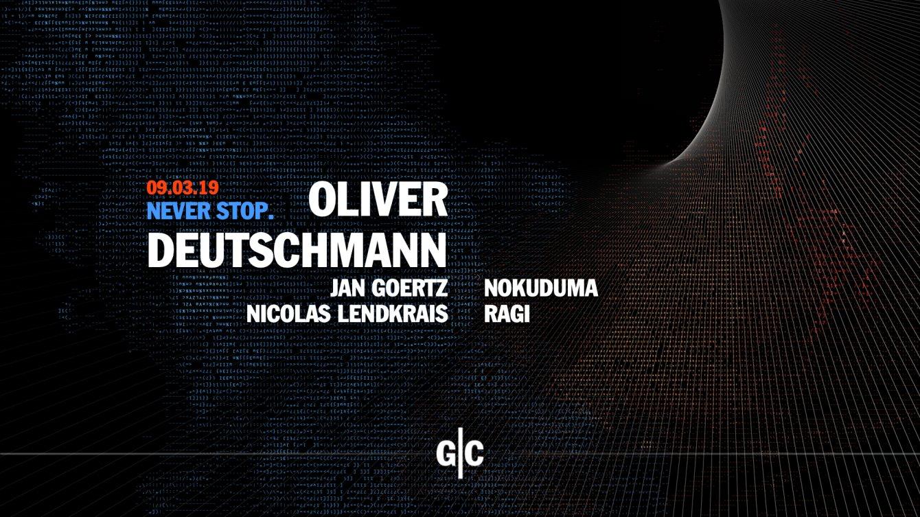 Never Stop. with Oliver Deutschmann, Jan Goertz, Nicolas Lendkrais - Flyer front