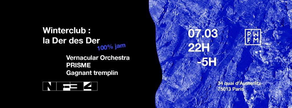 PWFM Last Winterclub - Flyer front