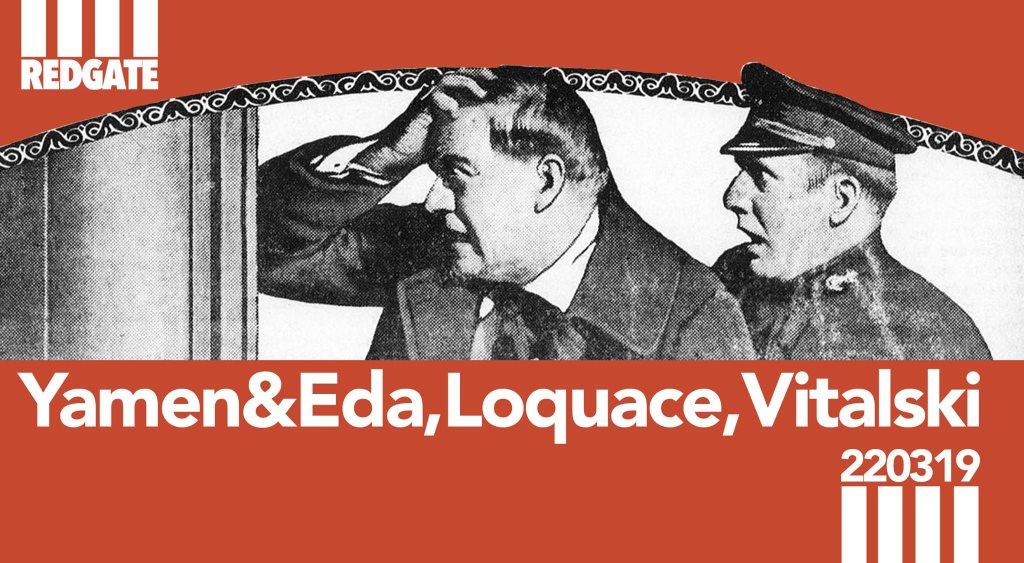 REDGATE: Yamen&eda,Loquace,Vitalski Birthday - Flyer front