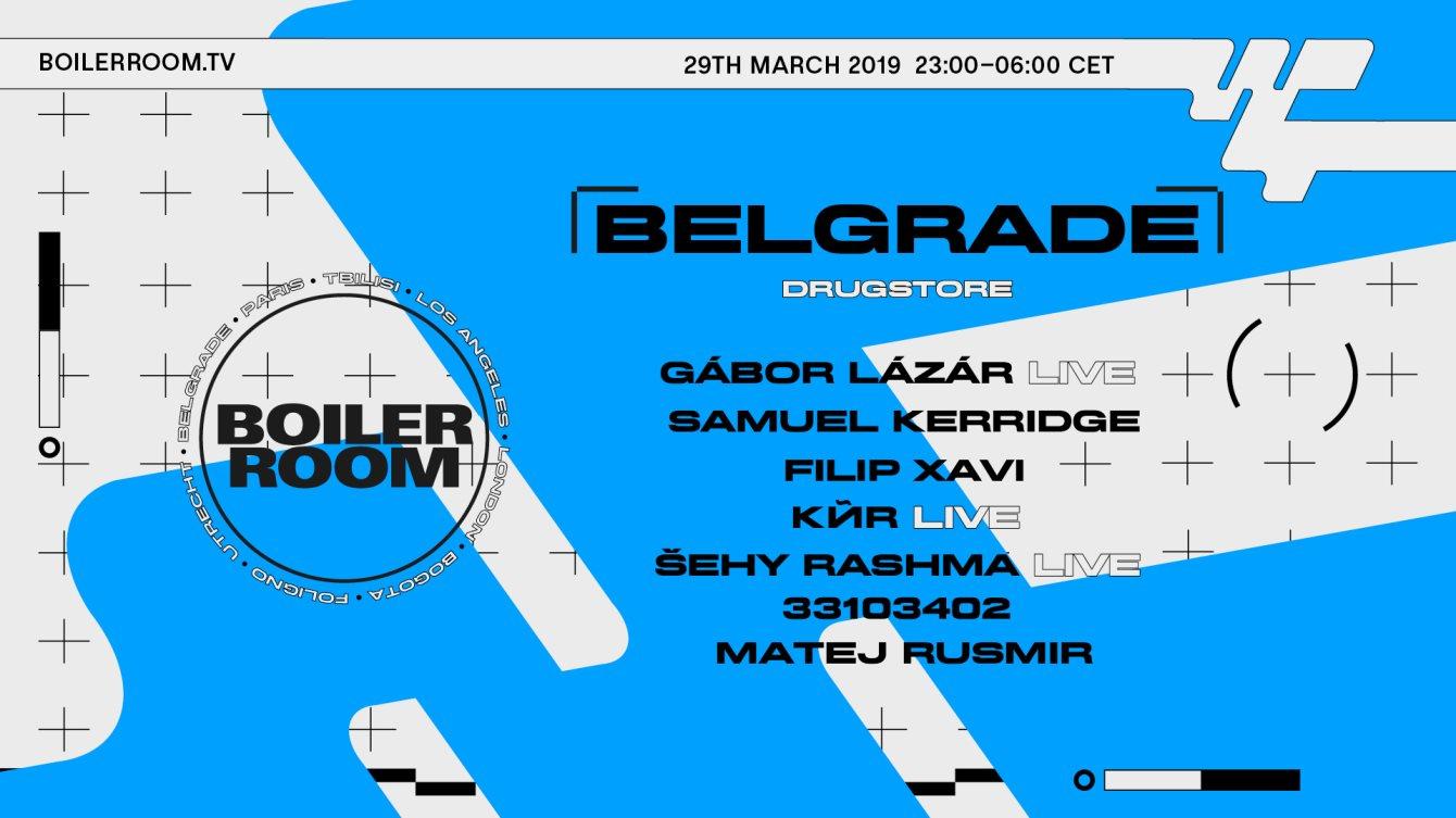 Boiler Room Belgrade: Drugstore - Flyer front