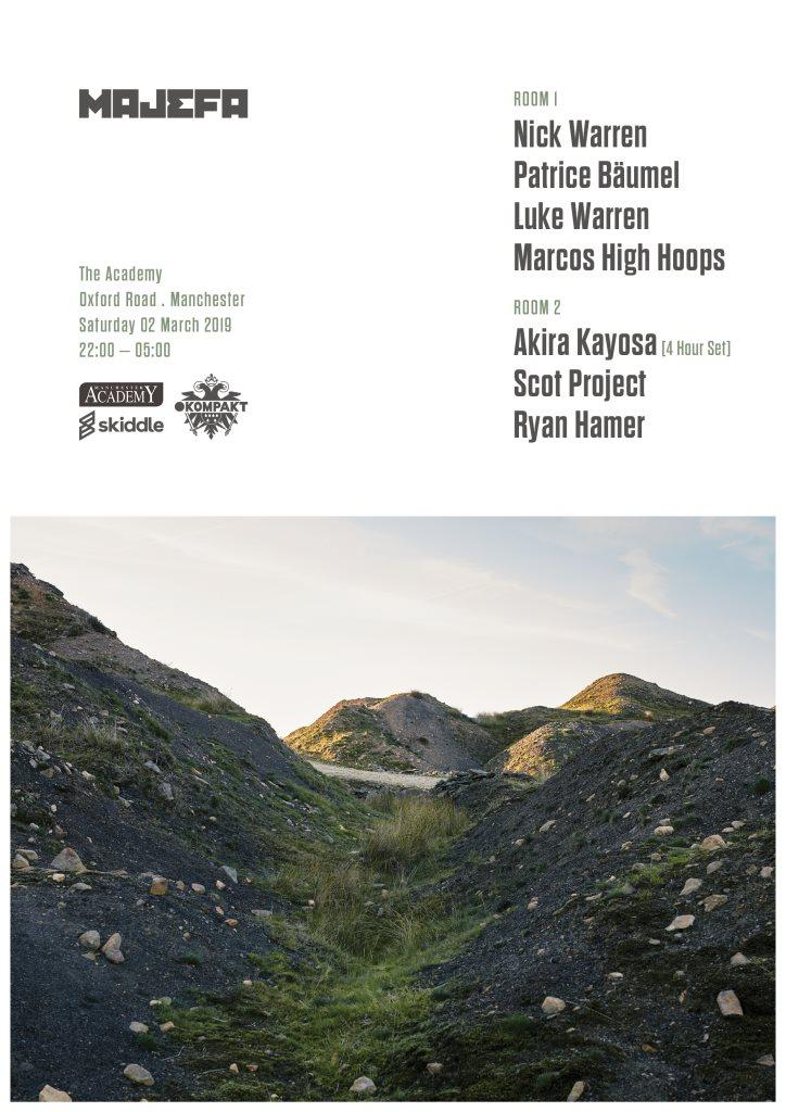 Majefa 12th Birthday - Nick Warren, Patrice Baumel, Akira Kayosa, Scot Project - Flyer front