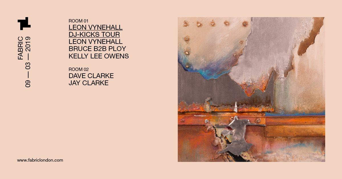 Leon Vynehall - DJ-Kicks Tour - London - Flyer front