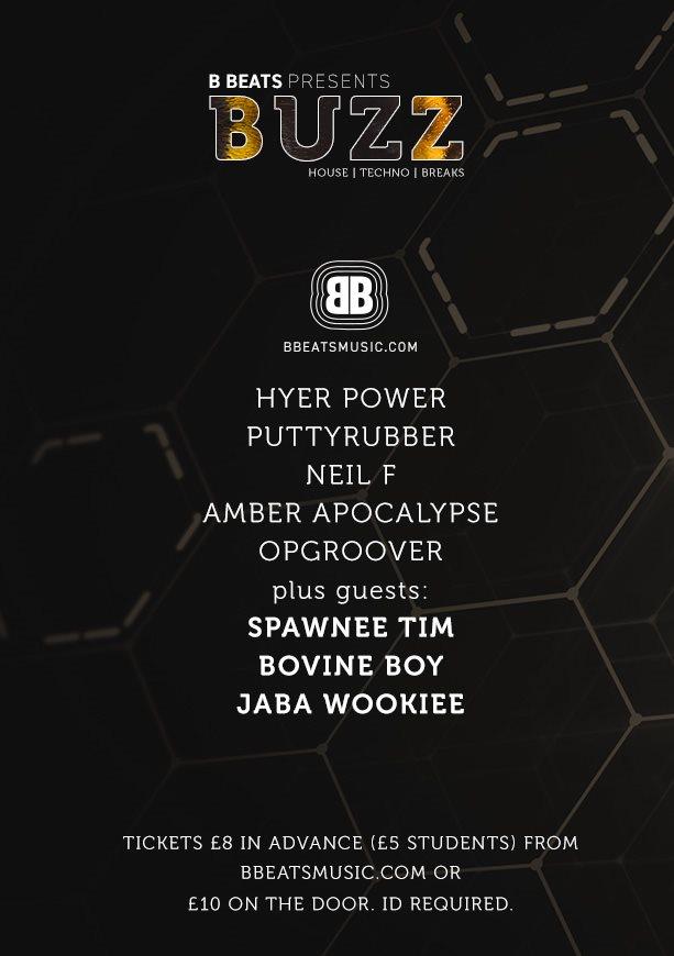 B Beats: Buzz - Flyer back