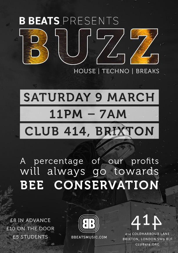 B Beats: Buzz - Flyer front