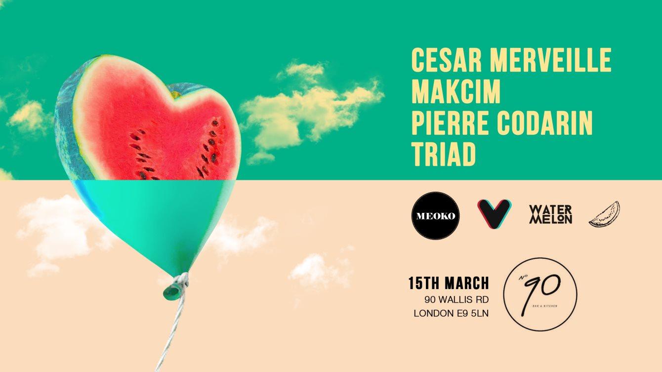 Eagervision x Watermelon with Cesar Merveille, Makcim, Pierre Codarin & Triad - Flyer front