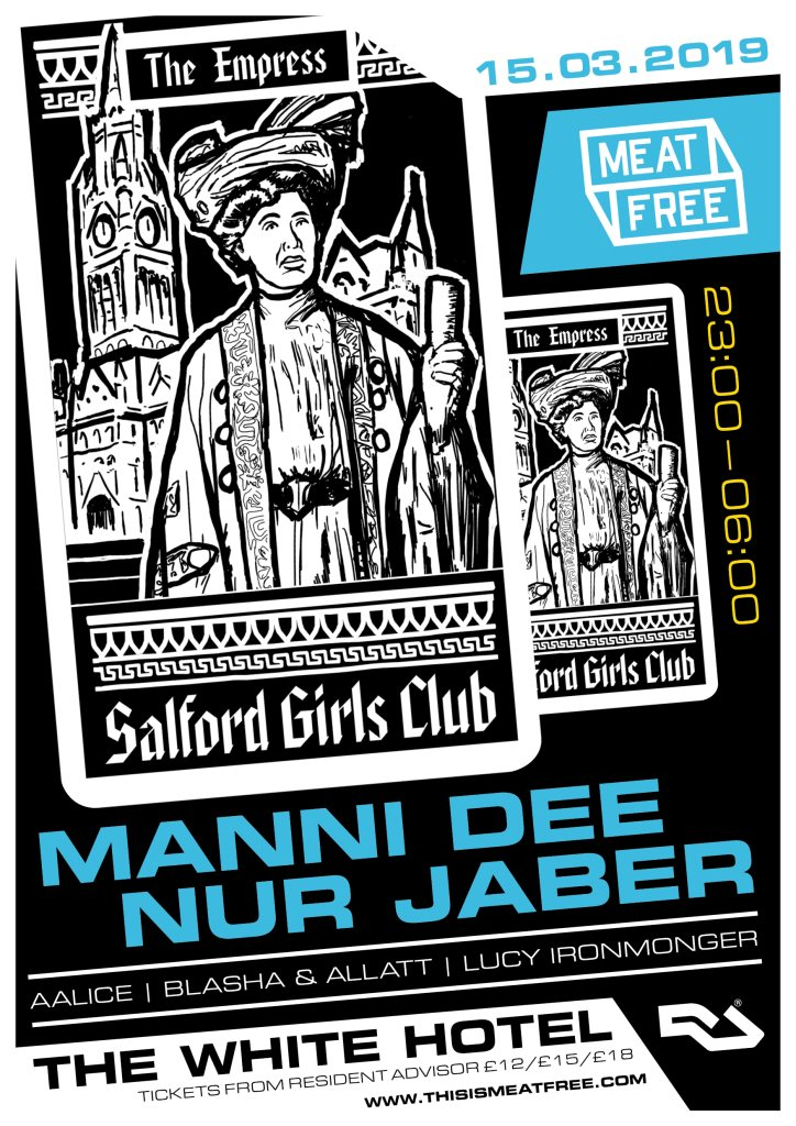 Meat Free with Manni Dee & Nur Jaber - Flyer front