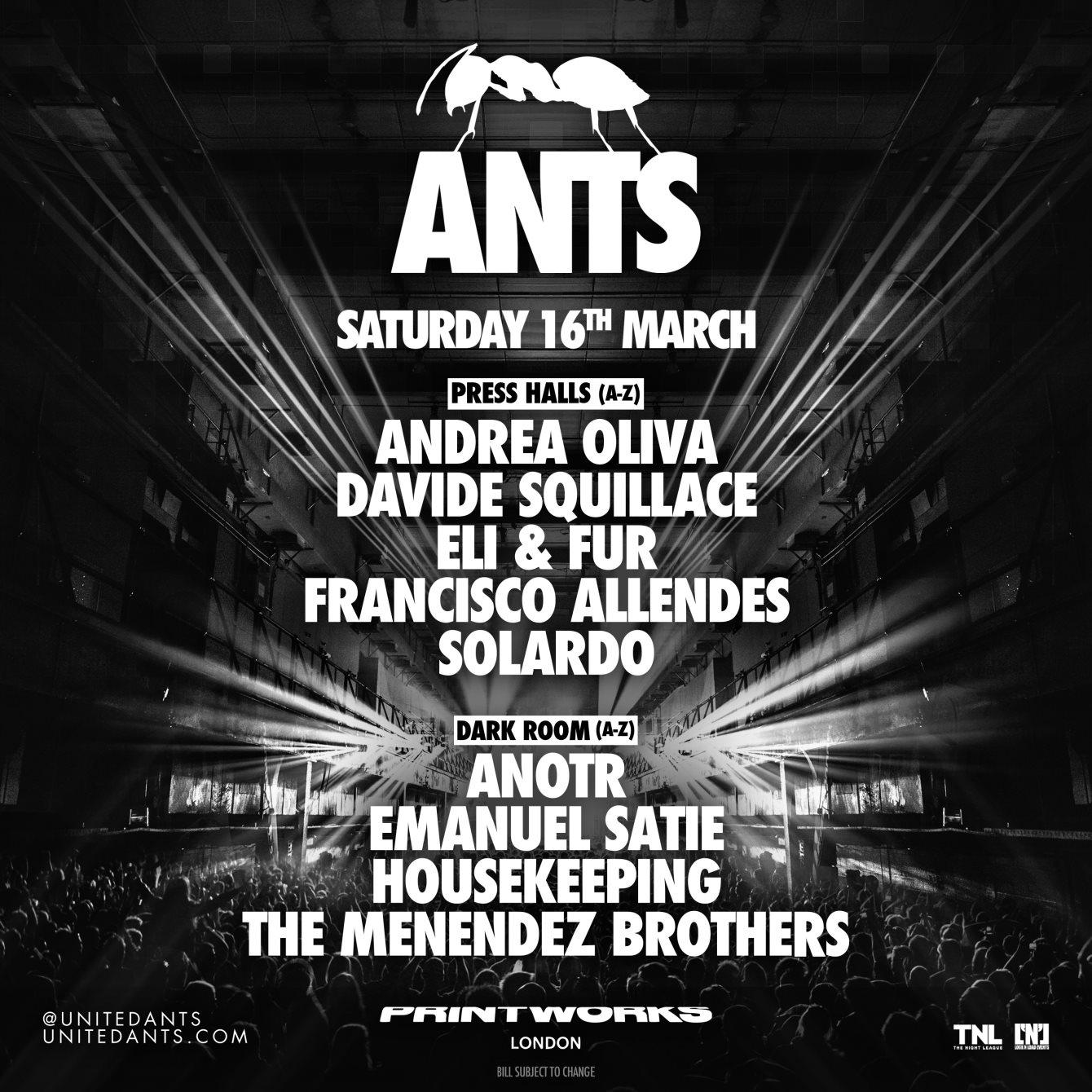 ANTS - Flyer back