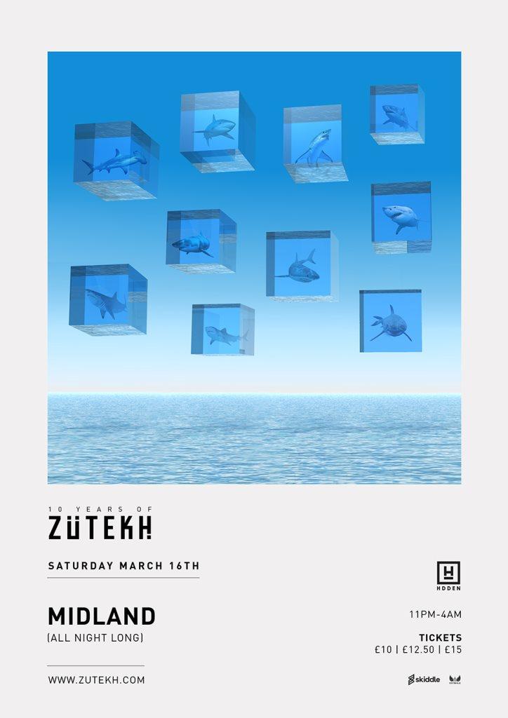 Zutekh presents Midland (All Night Long) - Flyer front