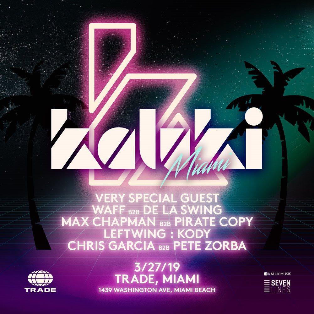 Kaluki - Miami Music Week 2019 - Flyer front