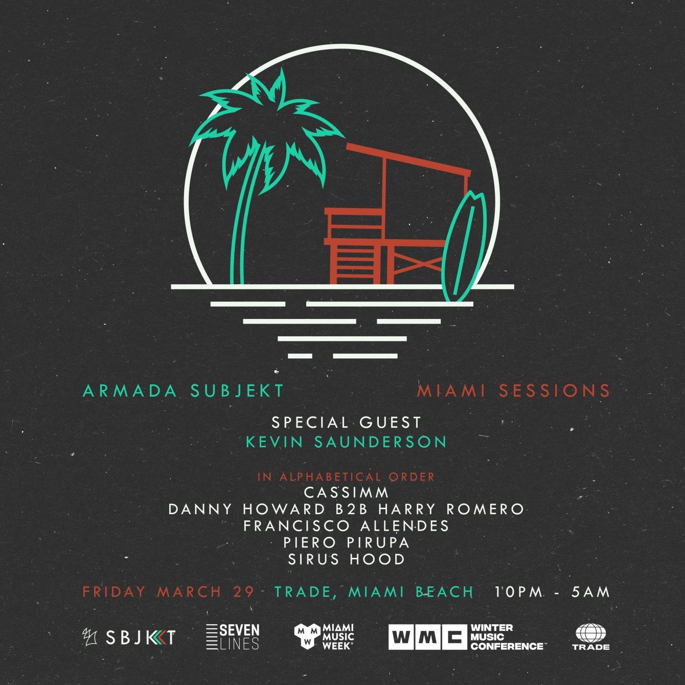 Armada Subjekt - Miami Sessions - Flyer front