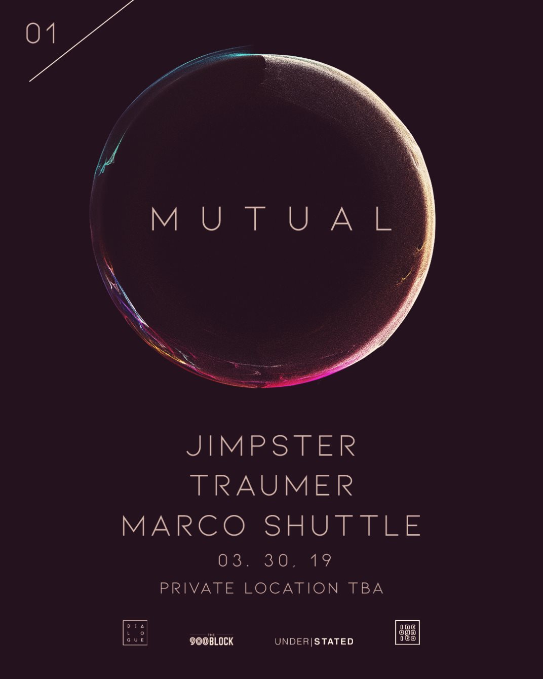 MUTUAL _ Jimpster, Traumer, and Marco Shuttle - Flyer back