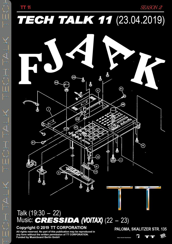 Tech Talk with FJAAK - Flyer front