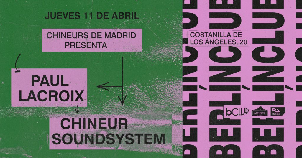Chineurs de Madrid: 2nd Anniversary - Flyer front