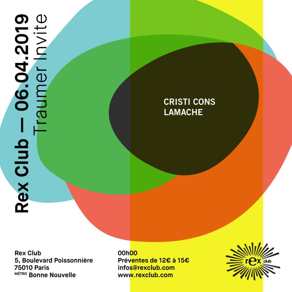 Traumer Invite Cristi Cons & Lamache - Flyer front