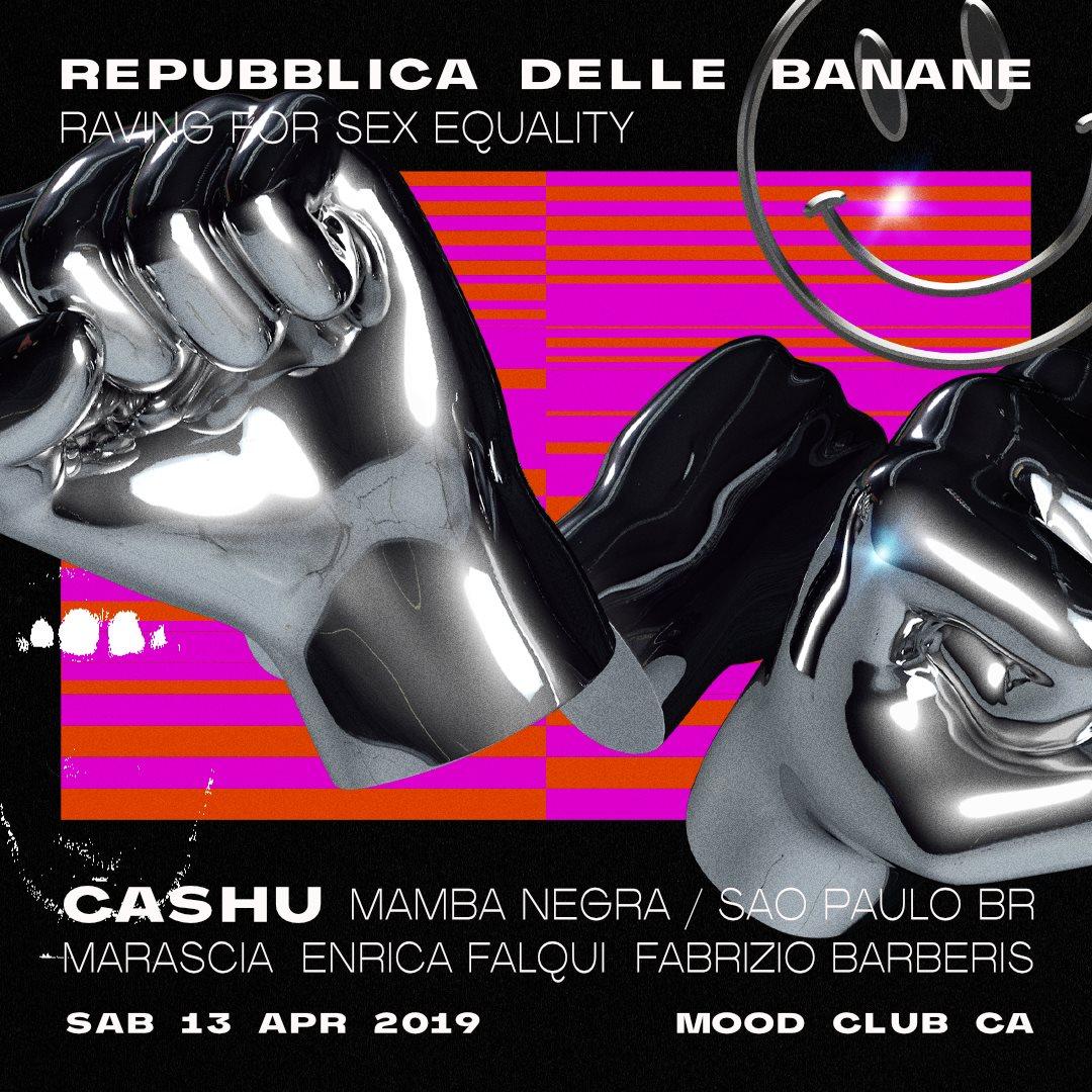 Repubblica Delle Banane - Raving for Sex Equality - Flyer front