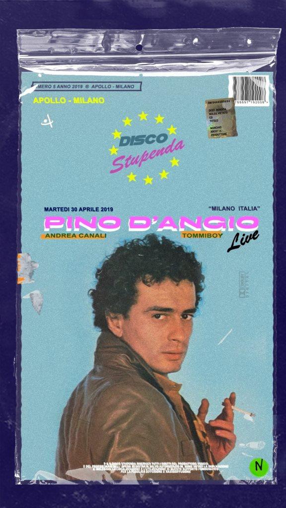 Disco Stupenda n*5 con Pino D'angiò Live - Flyer front