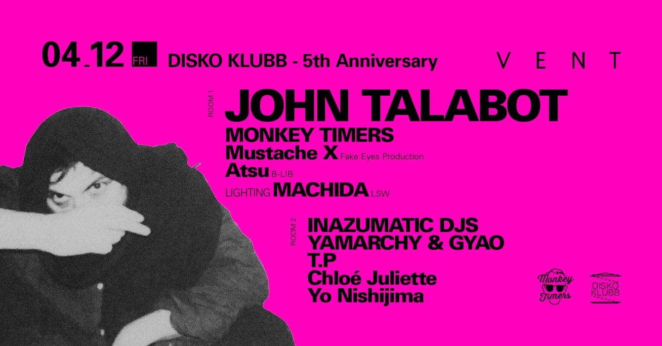 John Talabot at Disko Klubb - Flyer front