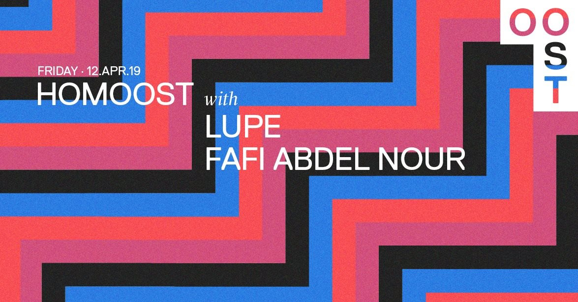 HomOOST • Queer Night with Lupe Fafi Abdel Nour - Flyer front