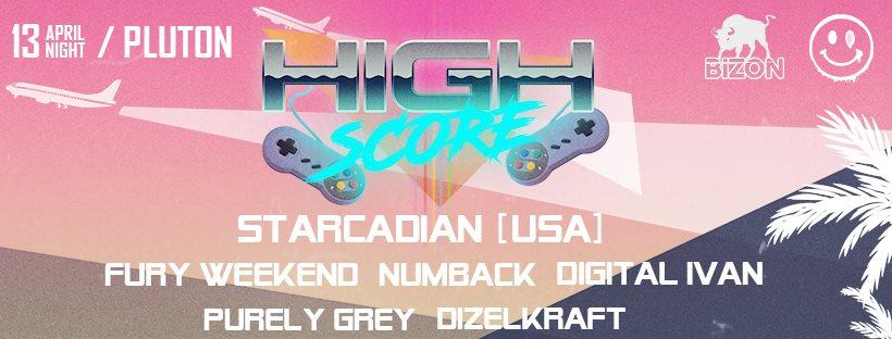 High Score: Starcadian - Flyer front