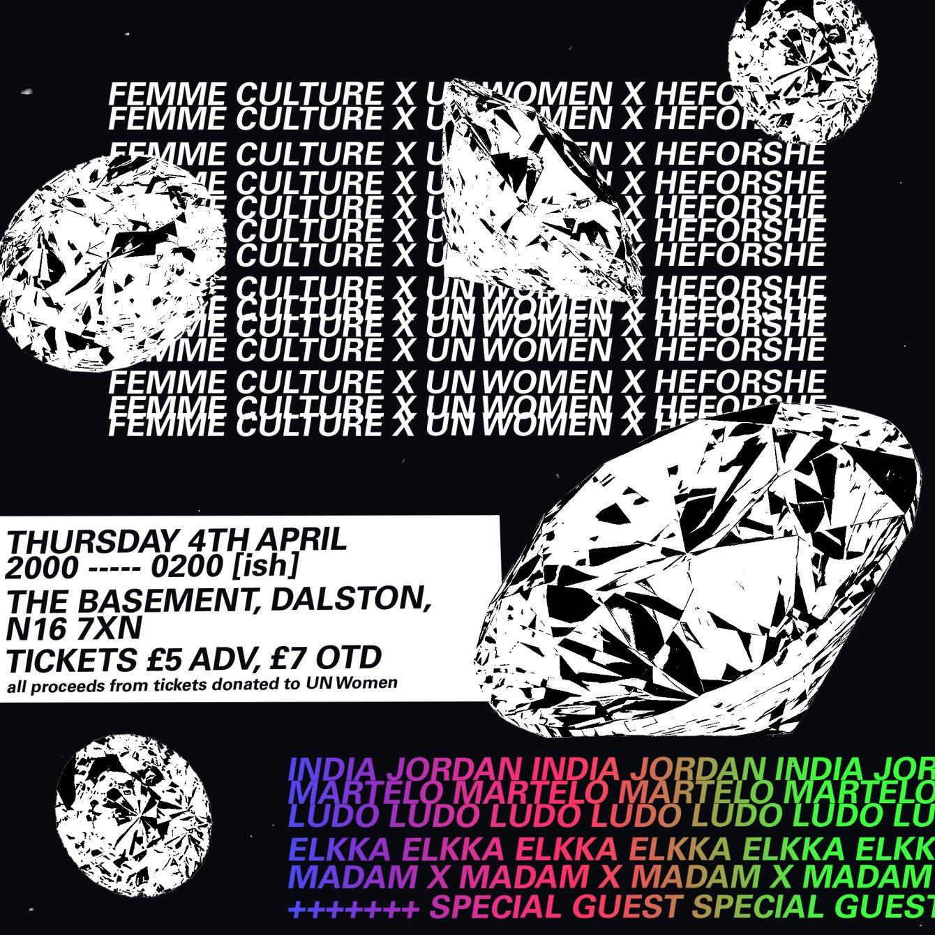 Heforshe x femme culture Vol. 2 - Flyer front