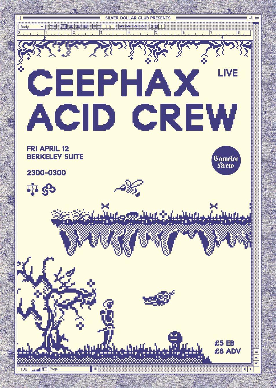 SDC x Ceephax Acid Crew Live - Flyer front