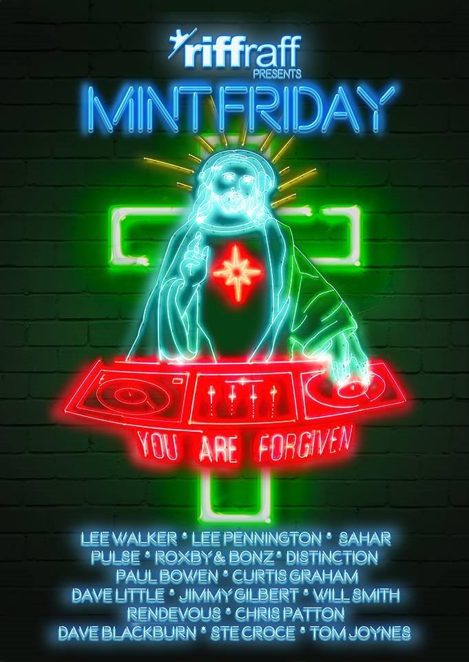 Riffraff presents Mint Friday - Flyer back
