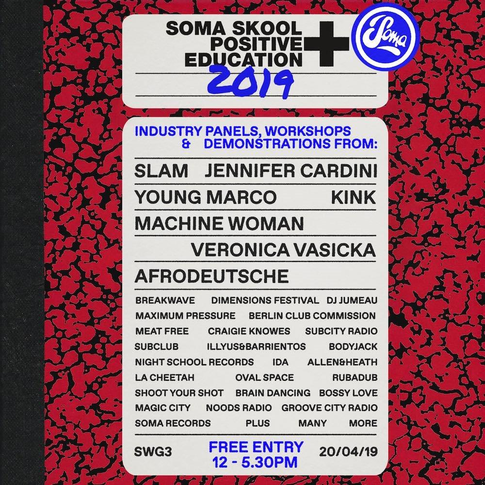 Soma Skool 2019 - Flyer front