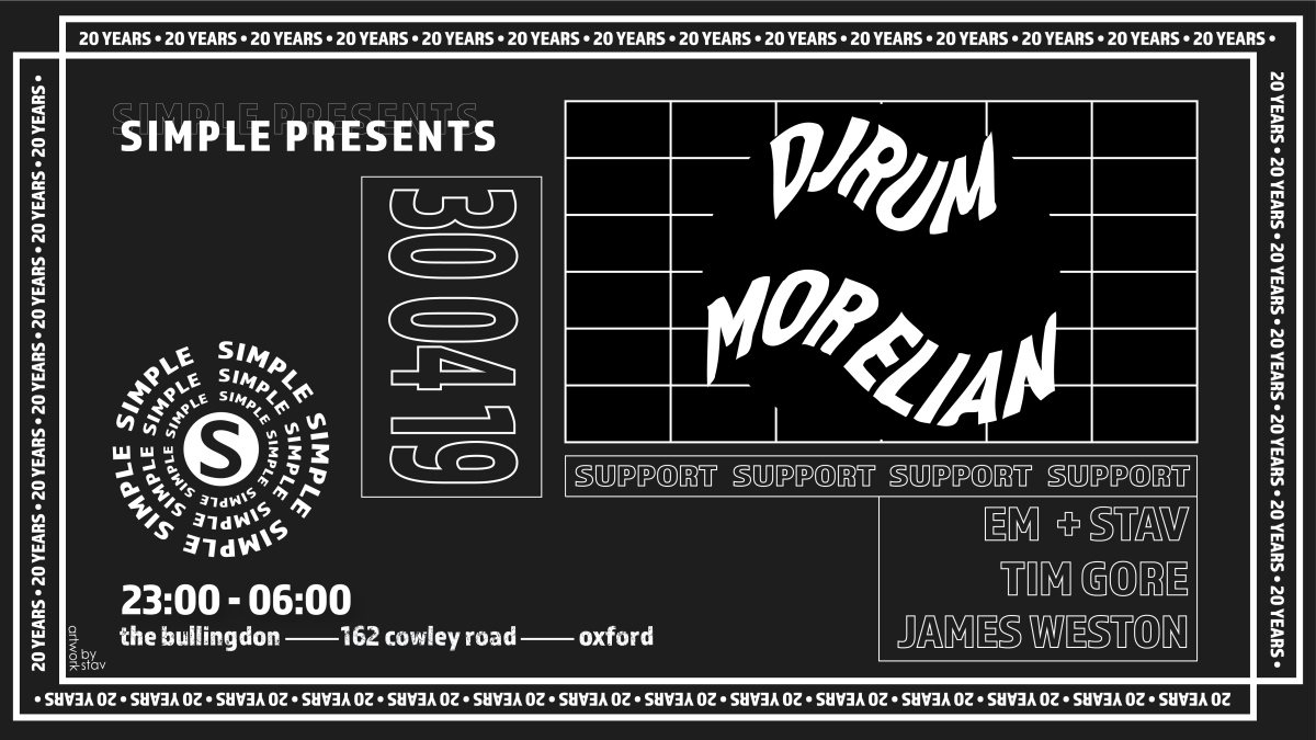 Simple's May Day Party with DjRUM and Mor Elian - Flyer front