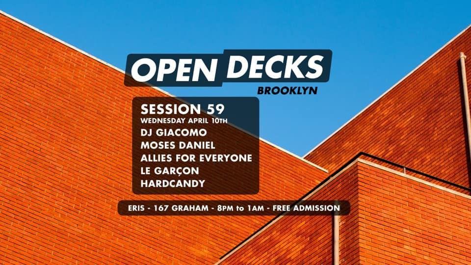 Open Decks Brooklyn - Session 59 - Flyer front