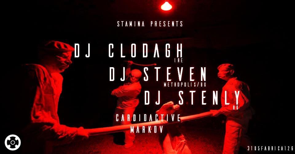 Stamina with Dj Clodagh - Dj Steven - Flyer front