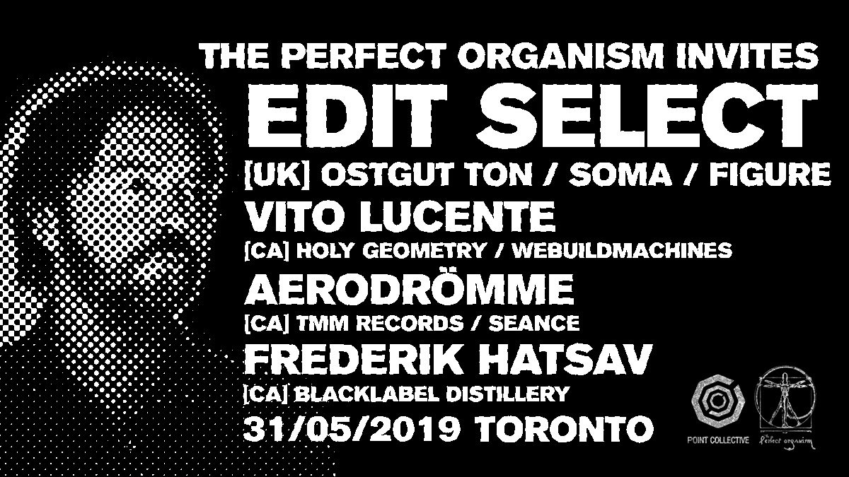 The Perfect Organism Invites: Edit Select - Flyer front