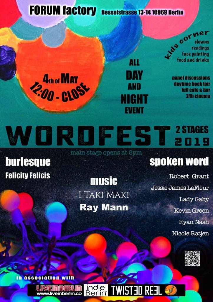 Wordfest 2019 - Flyer front