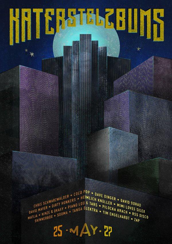 Katerstelzbums - Tim Engelhardt / Dirty Honkers / RSS Disco / David Mayer / Skinnerbox - Flyer back