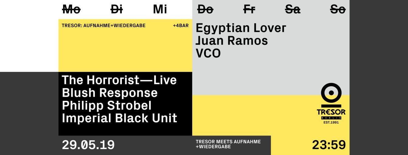 Tresor Meets Aufnahme+Wiedergabe - Flyer front
