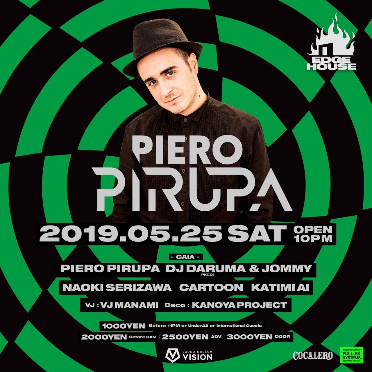 Edge House Feat. Piero Pirupa - Flyer front