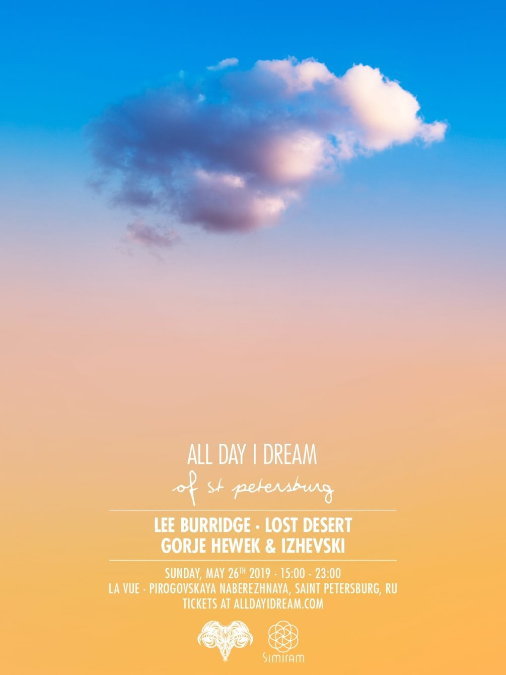 All Day I Dream - St Petersburg - Flyer front