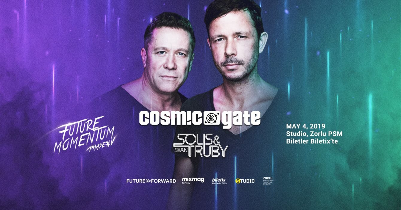 Phase V - Cosmic Gate 20 Years Tour / Solis & Sean Truby - Flyer front