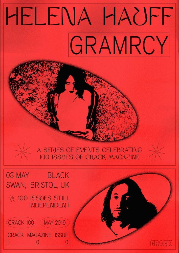 Crack 100: Helena Hauff & Gramrcy - Flyer front