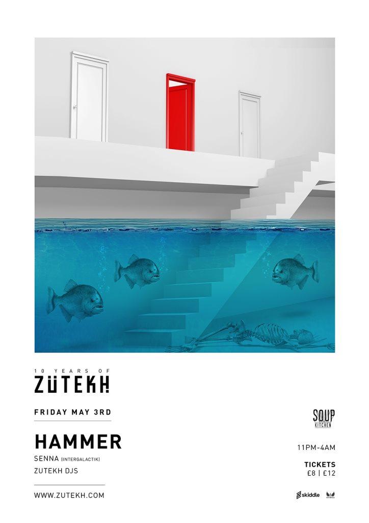 Zutekh presents Hammer - Flyer front
