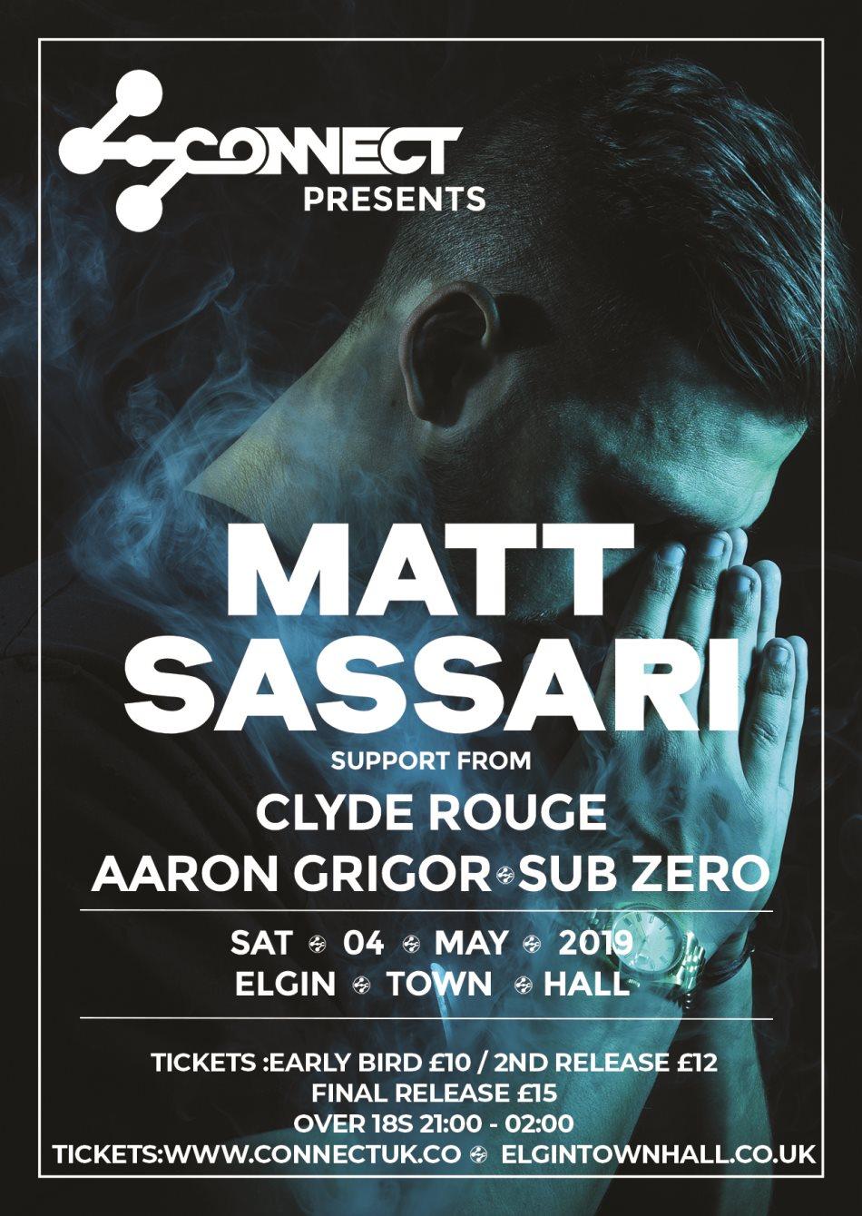 Connect presents Matt Sassari - Flyer front