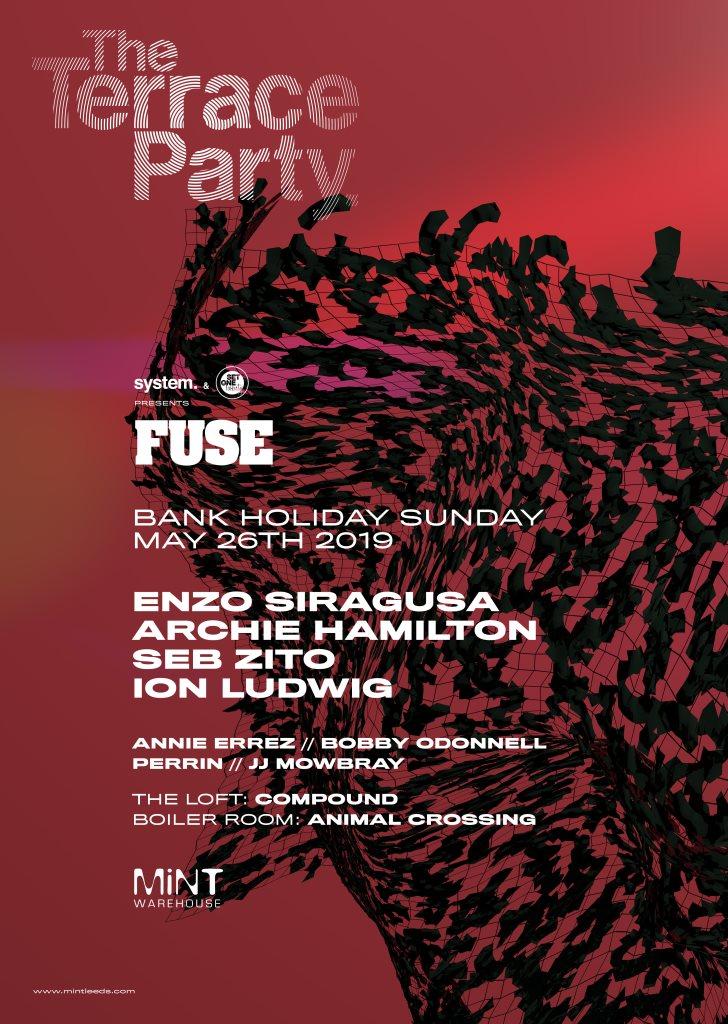 system. & Set One Twenty presents Fuse Terrace Party - Flyer front