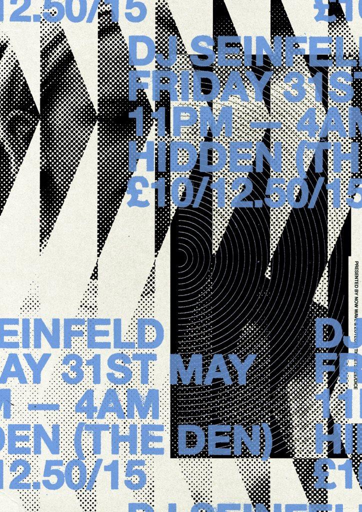 DJ Seinfeld (All Night Long) - Flyer front