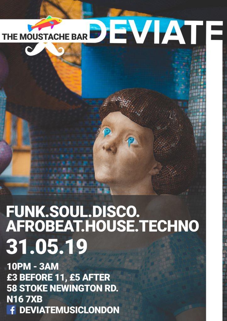 Deviate Viii ***Funk Soul Disco House & More*** - Flyer front