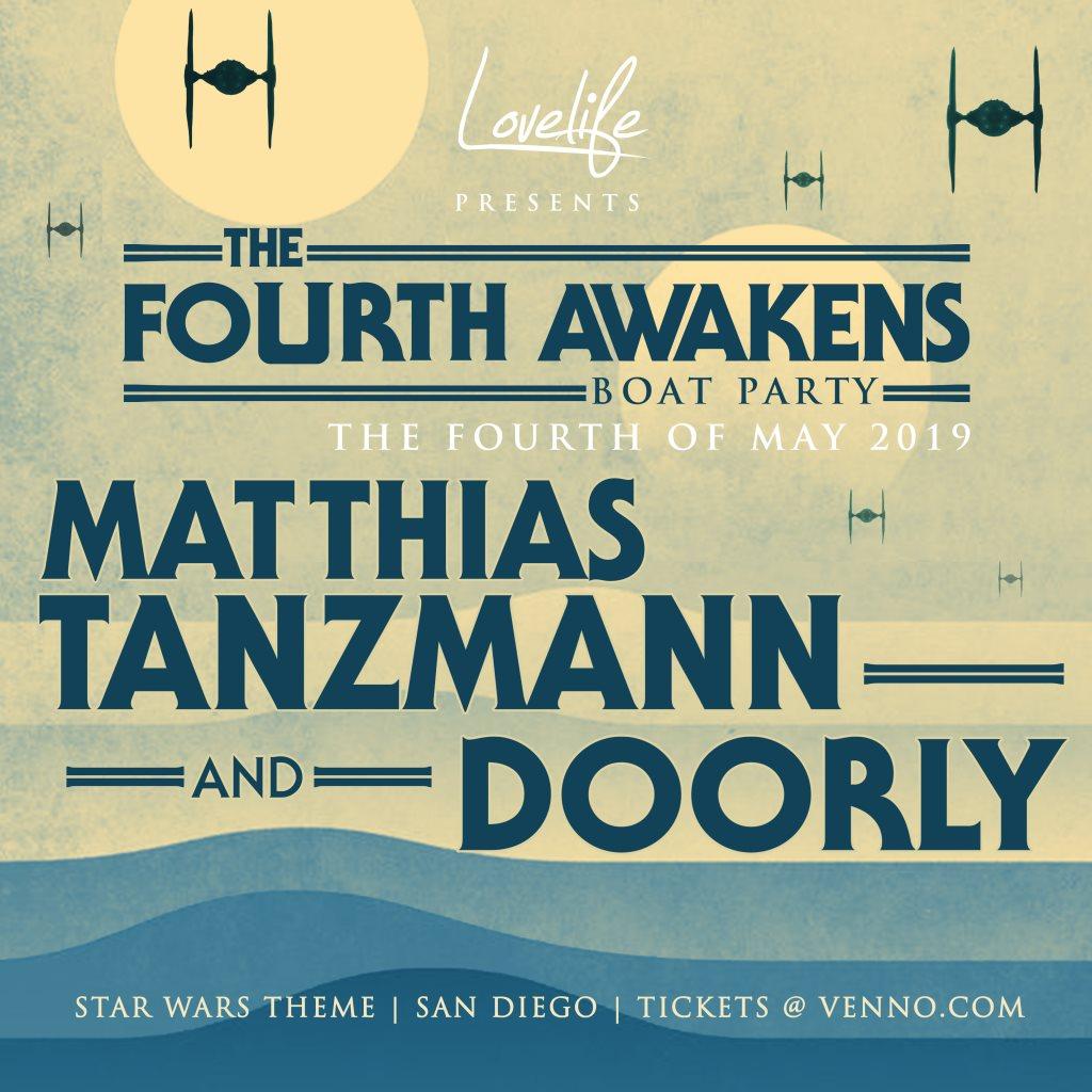 The Fourth Awaken Boat Party with Matthias Tanzmann & Doorly - Flyer front