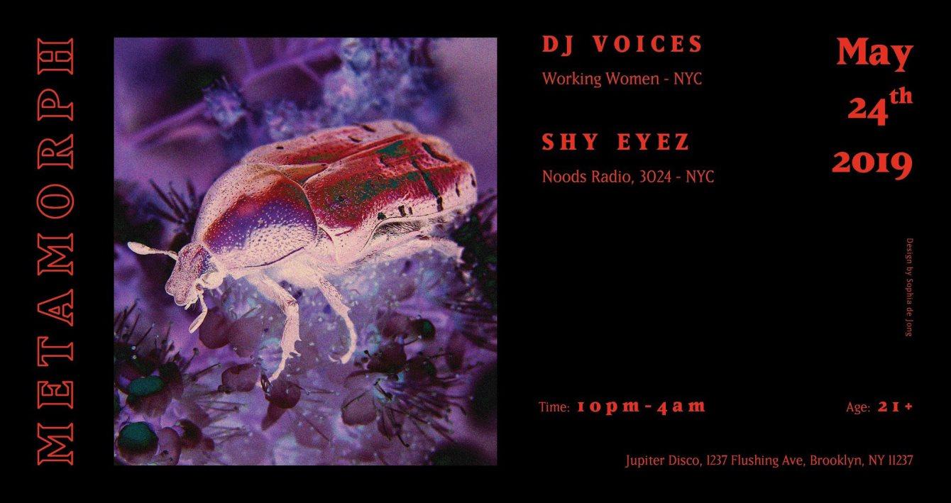 Metamorph: DJ Voices & Shy Eyez - Flyer front